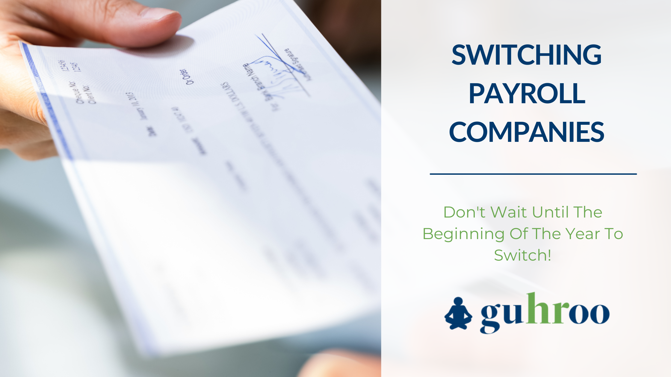 When to switch payroll companies